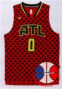 maillot basket nba Atlanta Hawks Teague  0 rouge nouveaux tissu 22 1ac2b05bf