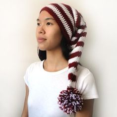 "Pattern available to buy for ""Long Stocking Cap""...in 5 sizes."