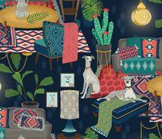 kilim boho fabric by michaelzindell on Spoonflower - custom fabric