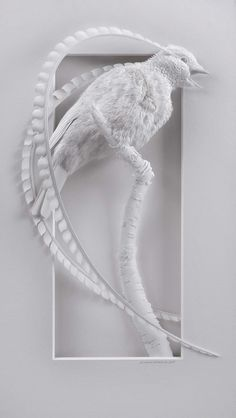 Delicate Layered Paper Sculptures of Birds and Other Animals by Calvin Nicholls