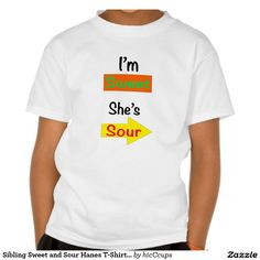 Sibling Sweet and Sour Hanes T-Shirt, kids' @ http://www.zazzle.com/sibling_sweet_and_sour_hanes_t_shirt_kids-235682258682824106 #sibling #t-shirts #sweet #sour #patch #kids