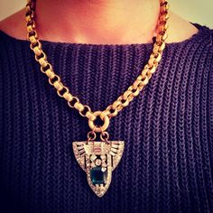 rolo chain necklace - vintagegreenjewelry.com