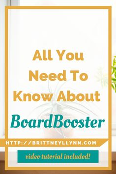 All You Need To Know About BoardBooster | Have you been wondering how you can use BoardBooster as a blogger or online business owner? Click to learn how you can use BoardBooster to drive loads of traffic to your website (video tutorial included!)