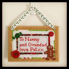 A personal favorite from my Etsy shop https://www.etsy.com/uk/listing/258013338/nanny-and-grandad-hanging-plaque