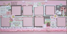 Good morning and happy Friday! I want to share two more baby layouts I designed for Treasured Memories. The papers are from the Bundle of J...