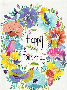 Happy Birthday Signs, Happy Birthday Wishes Cards, Happy Birthday Flower, Birthday Blessings, Happy Birthday Pictures, Birthday Wishes Quotes, Cake Birthday, Birthday Ideas, Birthday Gifts