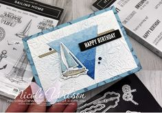 Nicole Wilson Independent Stampin' Up!® Demonstrator - A combined Sketch and Nautical Theme was the result of this card using Sailing Home and Itty Bitty Birthdays #stampinup #globaldesignproject #GDP251 #PCC386 #papercraftcrew #sailinghome #smoothsailing #ittybittybirthdays #seabed #sketch #nautical #malebirthday #malecard #masculine #nicolewilson