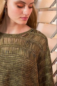 Tunisian Crochet | Argosy Top by Lily Chin: