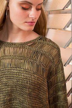 Tunisian Crochet | Argosy Top by Lily Chin: