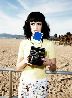 Krysten Ritter with a Polaroid OneStep 600 by Ture Lillegraven    Glamour Magazine - March 2012