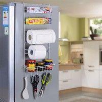 Wish | Kitchen Tool Multiuse Multilayer Refrigerator Side Shelf Rack Storage Hanger