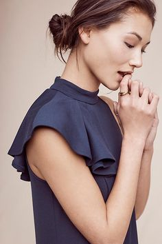 Slide View: 4: Ruffled Nobility Top