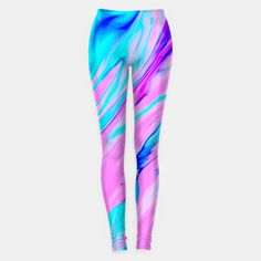 Pink-Blue Liquid Leggings, Live Heroes @liveheroes by photography_art_decor. All product: https://liveheroes.com/en/brand/oksana-fineart   #liquid  #psychedelic #marble #wave #abstract #trendy #stylish #fashionable #modern #awesome #amazing #chic #pink #blue #magenta #oil #paint #acrylic