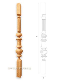Craftsman style wood stair balusters - Stair parts Stair Spindles Wood, Wood Stairs, Wooden Pillars, Pillar Design, Renaissance Fashion, Craftsman Style, Wood Turning, Wood Furniture, Wood Projects