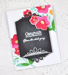 Promotion Congrats Card by Dawn McVey for Papertrey Ink (May 2015)