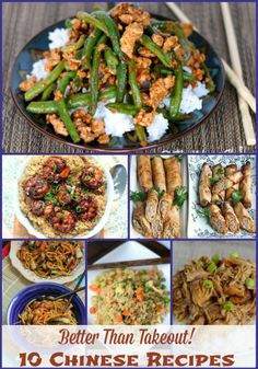 Better than Takeout. 10 Chinese Recipes.  Looks Yummy!