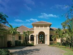 Mediterranean House Plans | Floor Plans AFLFPW06263 - 2 Story Mediterranean Home with 4 Bedrooms ...