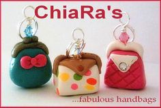 Polymer Clay Fabulous Handbags Charms by CharmthisClayCharms
