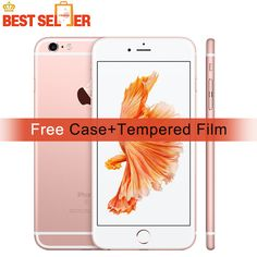 Unlocked Apple iPhone 6S, Free Case+Film, 2GB RAM 16GB/64GB/128GB ROM, 4.7inch, Mobile Phones, 4K Video iOS A9, 4G Smartphones  Price: 283.99 & FREE Shipping #computers #shopping #electronics #home #garden #LED #mobiles #rc #security #toys #bargain #coolstuff |#headphones #bluetooth #gifts #xmas #happybirthday #fun Apple Iphone, Ios, Fingerprint Recognition, 4g Smartphones, Apple Model, Buy Iphone, Display Resolution, 2gb Ram, Types Of Cameras