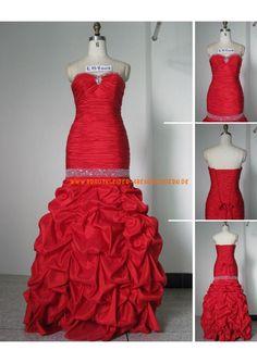 Rot dramatisch Unique Brautkleider 2013 aus Satin mit Applikation