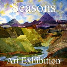 "The art gallery announces the results of their ""Seasons"" Art Exhibition Landscape Art Quilts, Quilt Modernen, Sewing Art, Textiles, Applique Quilts, Fabric Art, Online Art Gallery, Collage Art, Fiber Art"