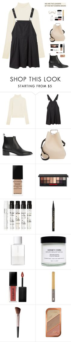 """""""""""You do care. You care so much you feel as though you will bleed to death with the pain of it."""" - J.K Rowling, Harry Potter and the Order of the Phoenix"""" by are-you-with-me ❤ liked on Polyvore featuring Acne Studios, Monki, 3.1 Phillip Lim, Givenchy, Smashbox, Kilian, Too Faced Cosmetics, SUQQU, Honey Corn and Urban Decay"""
