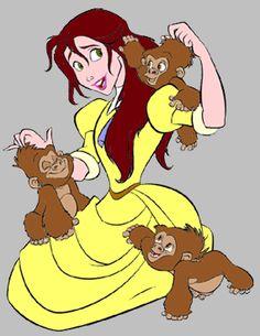 clipjanemonkeys.gif (285×369) Disney Movies, Disney Characters, Fictional Characters, City Boy, Modern Disney, Second World, Tarzan, Dreamworks, Pixar