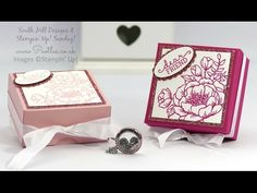 Birthday Blooms, Blushing Bride Glimmer Paper, Large Oval & Scalop Oval punches - Pretty Floral Box