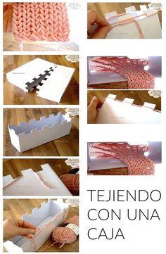 Tejer con Telar de Caja de Carton