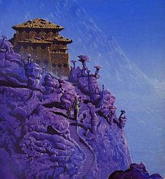 Tim White - Cover illustration for an edition of Time Enough for Love by Robert A. Heinlein, 1975