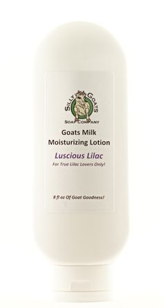"Silly Goats Soap Company's - ""Lusciuos Lilac"" Goat Milk Lotion,W/Toggle Bottle by SillyGoatsSoap on Etsy"