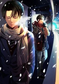 """Attack on Titan ~~ """"Oi! Hurry up, brat."""" :: Levi and Eren"""