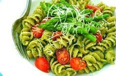 Asparagus and Walnut Pesto Pasta