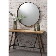 Simple and stylish the Greystoke Bronze Metal Round Mirror is ideal for your home. Metal Mirror, Round Wall Mirror, Beveled Mirror, Round Mirrors, Mirror Glass, Wall Mirrors, Industrial Mirrors, Full Length Mirror Wall, Home