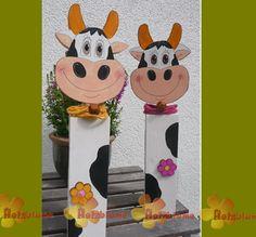 Holzpfosten Kuh