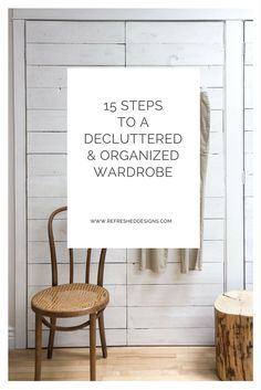 15 steps to declutter and organize your wardrobe