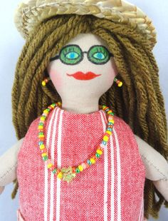 Summer Girl Doll  Kids Toy Doll  Art Doll by JoellesDolls on Etsy