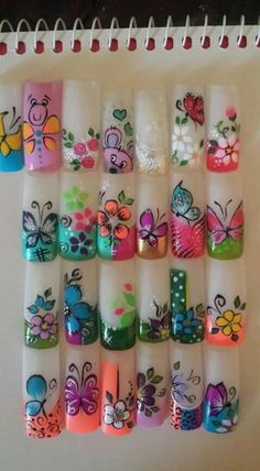 Lindas  Uñas Animal Nail Art, 3d Nail Art, 3d Nails, Nail Arts, Fancy Nails, Pretty Nails, Airbrush Nails, Flower Nail Art, French Tip Nails