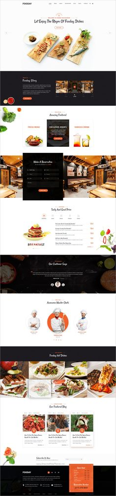 Fooday is a modern #PSD Template suitable for any #restaurants, coffee shops, sushi #bar or food related business websites download now➩ https://themeforest.net/item/fooday-restaurant-psd-template/19235873?ref=Datasata