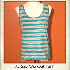 XL Gap Tank Nice colors and super comfortable. It doesn't have to be just a workout tank. You could wear it any time. GAP Tops Tank Tops
