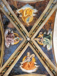 DOMENICO, il GHIRLANDAIO - volta con Sibille - affresco - 1485 - Cappella Sassetti - Basilica di Santa Trinità - Firenze