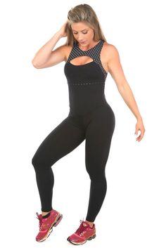 Dani Banani Moda Fitness - macacao-dany-estampa-poa produto 3113 macacao
