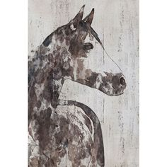 Marmont Hill - 'Rocky Horse' by Irena Orlov Painting Print on Wrapped Canvas