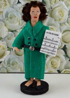 Edith Piaf Doll Miniature Historical Miniature by UneekDollDesigns