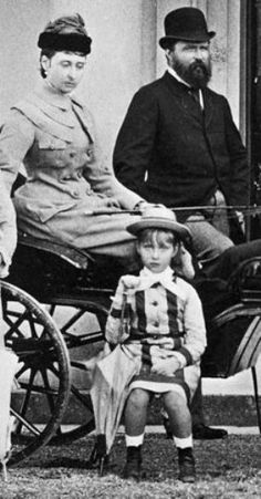 Alix of Hesse with her parents (Princess Alice of the UK and Grand Duke Louis of Hesse)1878, not long before her mother died.