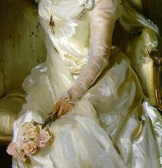 "the-garden-of-delights:  ""Mrs Joshua Montgomery Sears"" (1899) (detail) by John Singer Sargent (1856-1925)."