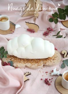 Petite douceur pour le dessert: #Nuage glacé de #Noël Chantilly - Noisette - Vanille #Bûche #Picard #MaTableAuSommet #Tabledefêtes