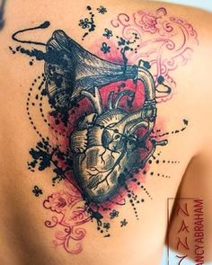 My (almost) hidden passion for ink — nancyabrahamtattoos13:   Corazón Gramófono by...
