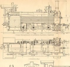 1904 Locomotives, Fast Train Engines from the 19th Century Orginal Antique Engraving