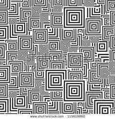 seamless patterns Black white by art4all, via ShutterStock
